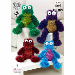 Tinsel Frogs in King Cole Tinsel Chunky