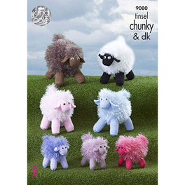 Tinsel Sheep in King Cole Tinsel Chunky