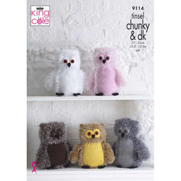 Owls in King Cole Tinsel Chunky