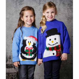 Children's Christmas Jumpers in Stylecraft Special Dk and Eskimo DK