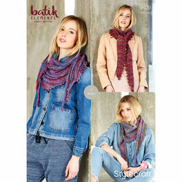 Scarves in Stylecraft Batik Elements DK  - Digital Version