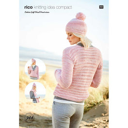 Cardigan, Scarf and Hat in Rico Creative Soft Wool Print Aran