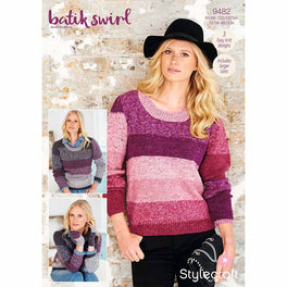 Ladies Sweaters & mittens in Stylecraft Batik Swirl DK - Digital Version