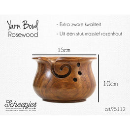 Scheepjes Yarn Bowl - Rosewood finish