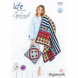 Boho Blanket and Cushion in Stylecraft Life DK and Special DK by Lucia Dunn - Digital Version - Digital Version