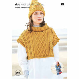 Poncho and Scarf in Rico Essentials Soft Merino Aran - Digital Version