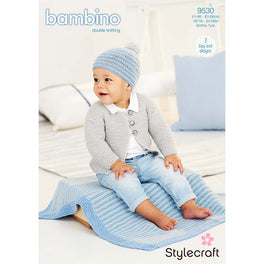 Cardigan Blanket and Hat in Stylecraft Bambino DK - Digital Version