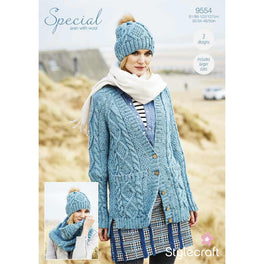 Cardigan, Snood and Hat in Stylecraft Special Aran with Wool - Digital Version