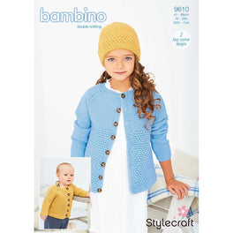Crochet Cardigan and Hat in Stylecraft Bambino DK