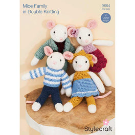 Mice Family in Stylecraft Bambino and Bellissima by Emma Varnam - Digital Version