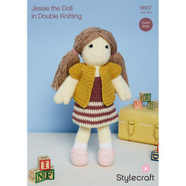 Crochet Jessie Doll in Stylecraft Special DK and Bellissima by Emma Varnam
