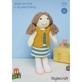 Knitted Jessie Doll in Stylecraft Special DK and Bellissima by Emma Varnam - Digital Version