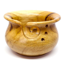 Scheepjes Yarn Bowl - Teak Wood Glossy
