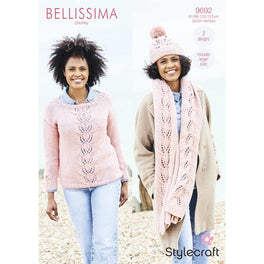 Sweater, Hat & Scarf in Stylecraft Bellissima Chunky