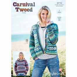 Sweater and Cardigan in Stylecraft Carnival Tweed Chunky - Digital Version