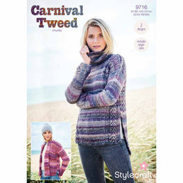 Sweater and Jacket in Stylecraft Carnival Tweed Chunky