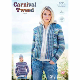 Jacket and Sweater Stylecraft Carnival Tweed Chunky