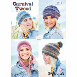 Hats, Beret and Helmet in Stylecraft Carnival Tweed Chunky