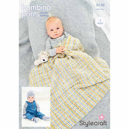 Blanket and Accessories in Stylecraft Bambino Prints DK
