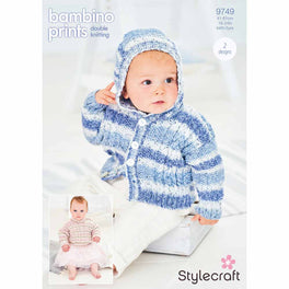 Jumper and Hoodie in Stylecraft Bambino Prints DK