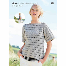 Stole and Short Sleeve Sweater in Rico Fashion Silk Blend DK - Digital Version