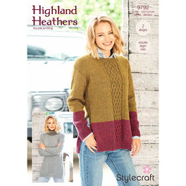 Tunics in Stylecraft Highland Heathers Dk 9792