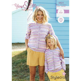 Cardigan and Sweater in Stylecraft You & Me - Digital Version 9824