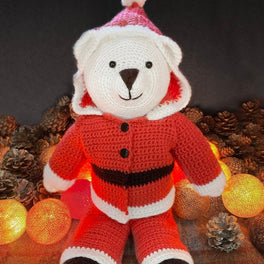 Bo Bear Santa Suit in West Yorkshire Spinners Bo Peep - Digital Version