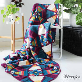 Royal Garden Crochet Blanket Kit - by Jane Crowfoot in Scheepjes Colour Crafter