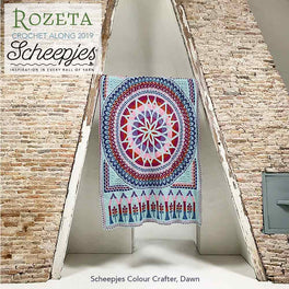 Rozeta Scheepjes CAL Dawn 15 balls of Colour Crafter