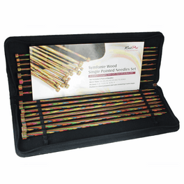 KnitPro Symfonie Wood Single Pointed Needles Set - 35cm Length