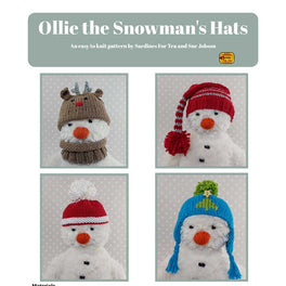 Ollie The Snowman's Hats in Sirdar- Sue Jobson