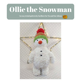 Ollie The Snowman in Sirdar Alpine by Sue Jobson - Digital Version