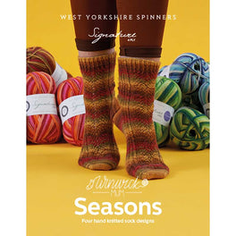 West Yorkshire Spinners - Winwick Mum Seasons - 4 hand knitted sock designs