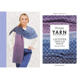 Yarn The After Party - Lavender Trellis Wrap by Margje Enting