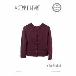 A Simple Heart Cardigan by Sue Stratford - Digital Pattern