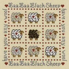 Baa Baa Black Sheep Cross Stitch