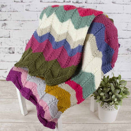 On Point Knitted Chevron Blanket Colour Pack - Stylecraft Special Chunky