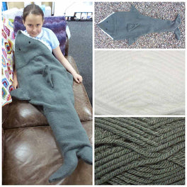 Shark Blanket Knitting Pattern & Yarn Pack