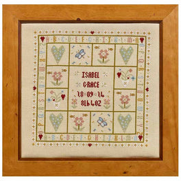 Four Hearts Birth Sampler