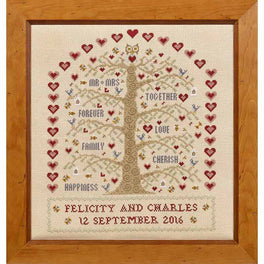 Heart and Tree Wedding Sampler