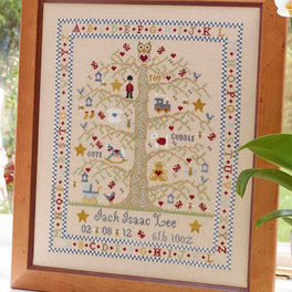 Tree A-Z Birth Sampler - Boy