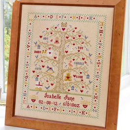Tree A-Z Birth Sampler - Girl