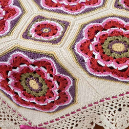 Imogen Crochet Blanket Pattern by Janie Crow