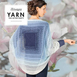 Yarn The After Party 27 Indigo Shrug in Scheepjes Whirl and Whirlette by Tatsiana Kupryianchyk