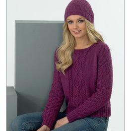 Ladies Sweater and Hat in James C Brett DK with Merino