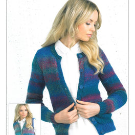 Cardigans and Waistcoats knitted  in James C Brett Marble Chunky