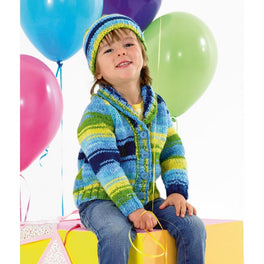 Cardigan and Hat in James C Brett Party Time Chunky JB342