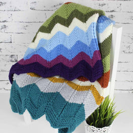 Stylecraft Special Chunky Colour Pack - Knitted Chevron Blanket