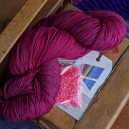 Leave These to Me Fingerless Mitts - Pack in Fyberspates Vivacious 4ply - Mixed Magentas